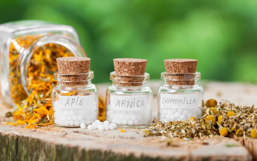 old fashioned homeopathic remedy bottles